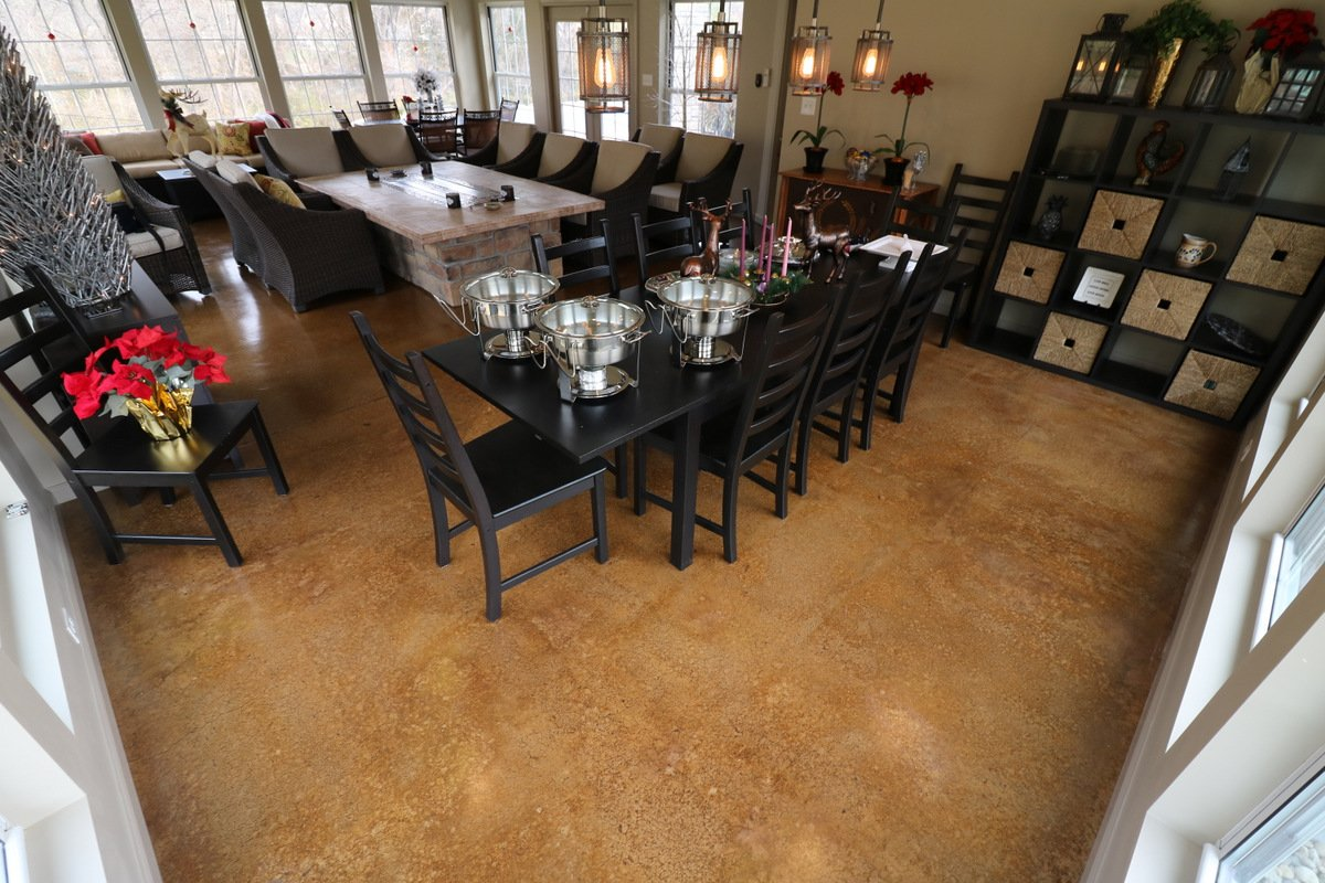 stain concrete floors