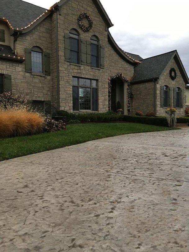 stamped concrete driveway dallas