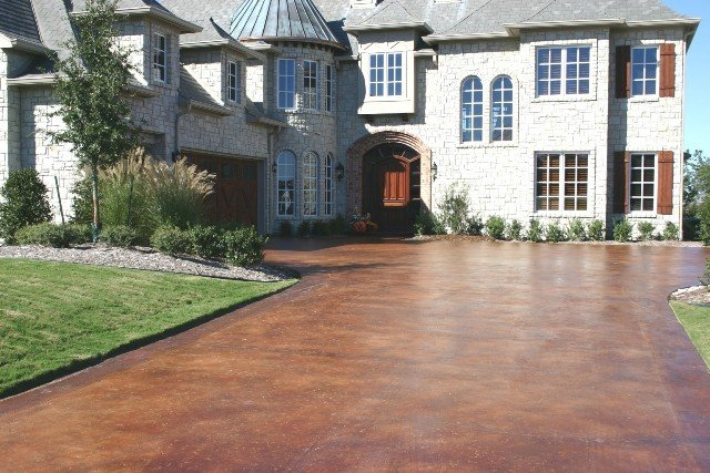 stained concrete driveway dallas